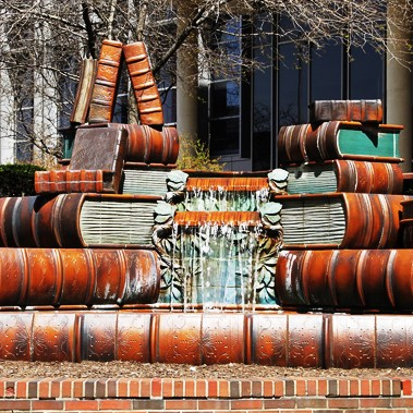 book-fountain